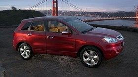 acura, rdx, red, side view, style, acura, auto, city, lights, bridge, nature - wallpapers, picture
