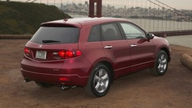 acura, rdx, red, rear view, style, auto, acura, city, nature, bridge - wallpapers, picture