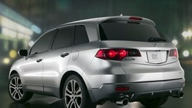acura, rdx, prototype, 2006, silver metallic, jeep, rear view, acura, auto, city, lights - wallpapers, picture
