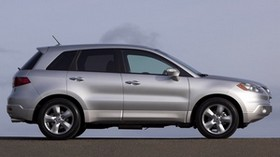 acura, rdx, silver metallic, acura, side view, style, auto, sky, asphalt - wallpapers, picture