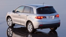 acura, rdx, silver metallic, jeep, rear view, acura, car, wet asphalt, reflection - wallpapers, picture