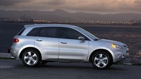 acura, rdx, silver metallic, side view, style, acura, sky, lights, water, mountains - wallpapers, picture