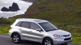 acura, rdx, silver metallic, top view, style, acura, jeep, auto, nature, grass, water - wallpapers, picture