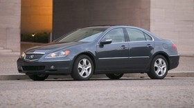 acura, rl, 2004, blue, side view, style, acura, auto, building, asphalt - wallpapers, picture
