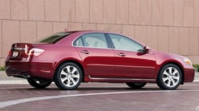 acura, rl, 2008, red, side view, sedan, style, acura, auto - wallpapers, picture
