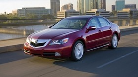 acura, rl, 2008, red, front view, style, acura, sedan, auto, speed, city, asphalt - wallpapers, picture