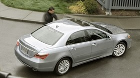 acura, rl, 2010, silver metallic, top view, style, acura, auto, grass, asphalt - wallpapers, picture