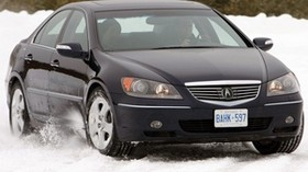 acura, rl, black, front view, acura, auto, snow, style - wallpapers, picture