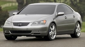acura, rl, concept, metallic gray, front view, acura, concept car, auto, nature, asphalt - wallpapers, picture