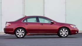 acura, rl, red, side view, acura, auto, style - wallpapers, picture