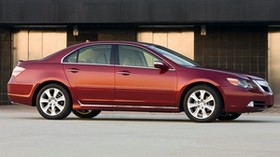 acura, rl, red, side view, style, acura, auto, building - wallpapers, picture