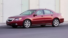 acura, rl, red, side view, style, acura, sedan, auto, asphalt - wallpapers, picture