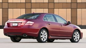 acura, rl, red, rear view, acura, auto, style, building - wallpapers, picture