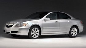 acura, rl, silver metallic, side view, style, acura, sedan, auto - wallpapers, picture
