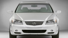 acura, rl, silver metallic, front view, acura, car - wallpapers, picture