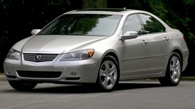 acura, rl, silver metallic, front view, style, acura, sedan, trees, asphalt - wallpapers, picture
