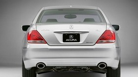 acura, rl, silver metallic, rear view, style, acura, car - wallpapers, picture