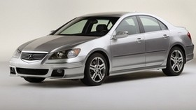 acura, rl, metallic gray, side view, style, acura, auto - wallpapers, picture