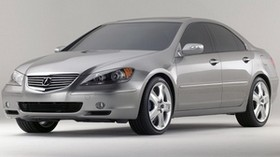 acura, rl, metallic gray, front view, style, acura, auto, concept - wallpapers, picture