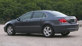 acura, rl, gray, side view, style, acura, auto, trees, asphalt - wallpapers, picture