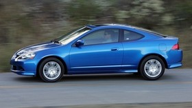 acura, rsx, 2005, blue, side view, style, acura, auto, speed, asphalt, nature - wallpapers, picture