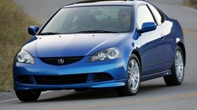acura, rsx, 2005, blue, front view, style, acura, auto, road - wallpapers, picture