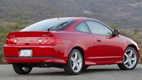 acura, rsx, 2006, red, side view, style, auto, mountains, nature, asphalt - wallpapers, picture