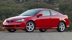 acura, rsx, red, side view, style, auto, acura, nature, trees, asphalt - wallpapers, picture