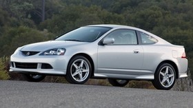 acura, rsx, silver metallic, side view, style, auto, acura, forest, nature, asphalt - wallpapers, picture