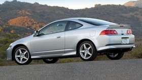 acura, rsx, silver metallic, side view, style, auto, acura, nature, mountains, asphalt - wallpapers, picture