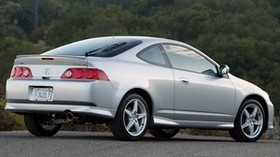 acura, rsx, silver metallic, side view, style, auto, forest, nature - wallpapers, picture