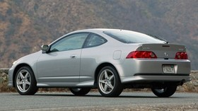 acura, rsx, metallic gray, side view, style, auto, mountains, asphalt - wallpapers, picture