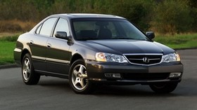 acura, tl, 2002, black, front view, style, auto, acura, nature, grass, shrubs, trees, asphalt - wallpapers, picture