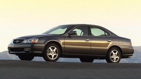 acura, tl, 2002, brown, side view, style, auto, acura, asphalt, mountains - wallpapers, picture