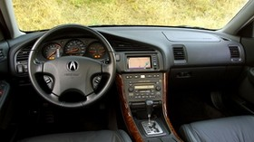 acura, tl, 2002, salon, interior, steering wheel, speedometer, grass - wallpapers, picture
