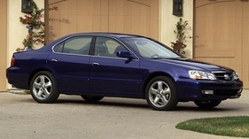 acura, tl, 2002, blue, side view, style, auto, acura, building, grass, asphalt - wallpapers, picture