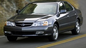 acura, tl, 2002, blue, front view, style, auto, acura, mountains, asphalt - wallpapers, picture