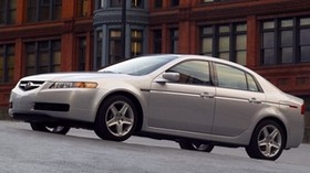 acura, tl, 2004, white metallic, side view, style, auto, acura, building, asphalt - wallpapers, picture