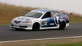 acura, tl, 2004, white, blue, side view, style, sport, acura, auto, speed, nature, grass - wallpapers, picture