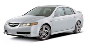 acura, tl, 2004, white, side view, style, acura, auto - wallpapers, picture