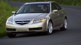 acura, tl, 2004, beige metallic, front view, style, acura, auto, grass, speed, asphalt - wallpapers, picture
