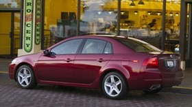 acura, tl, 2004, burgundy, side view, style, auto, acura, building, street - wallpapers, picture