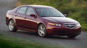 acura, tl, 2004, red, side view, style, auto, acura, nature, speed, grass - wallpapers, picture