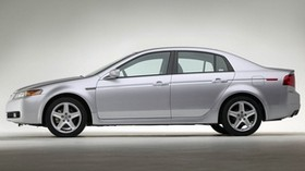 acura tl, 2004, silver metallic, side view, style, acura, car - wallpapers, picture