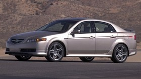 acura, tl, 2004, silver metallic, side view, style, acura, auto, mountains, asphalt - wallpapers, picture