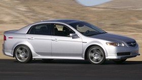 acura, tl, 2004, silver metallic, side view, style, acura, auto, speed, mountains, asphalt - wallpapers, picture