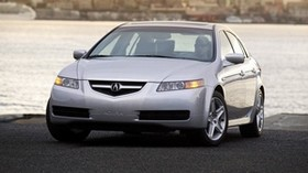acura, tl, 2004, silver metallic, front view, style, auto, acura, sunset, city, water - wallpapers, picture