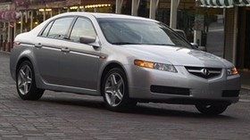 acura, tl, 2004, metallic gray, side view, style, auto, acura, street, building - wallpapers, picture