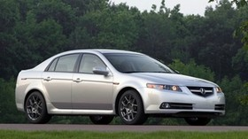 acura, tl, 2007, white metallic, side view, style, auto, acura, nature, trees, grass - wallpapers, picture