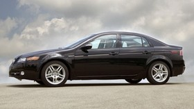 acura, tl, 2007, black, side view, style, acura, auto, clouds - wallpapers, picture